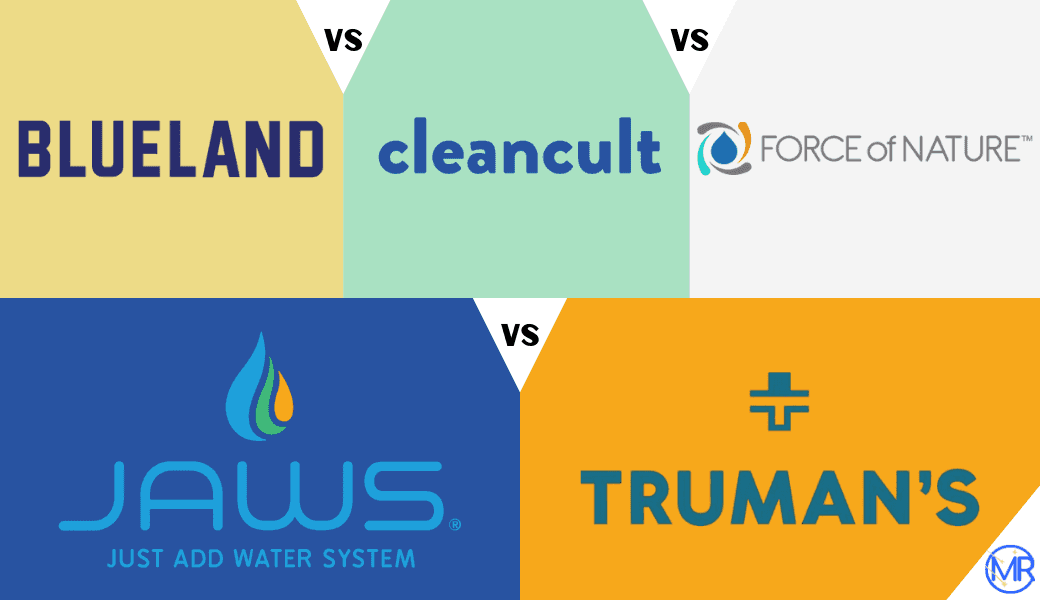Best Refillable Cleaning Products:, Blueland, Cleancult, Force of Nature,, JAWS, and Truman's cover image